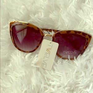 Twelve Leopard Print Cat Eye Sunglasses